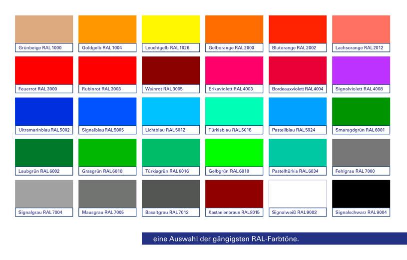 farbspektrum stahl pulverbeschichtung f r z une t r tor und schranke eichler. Black Bedroom Furniture Sets. Home Design Ideas